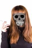 Badgirl smoke — Zdjęcie stockowe