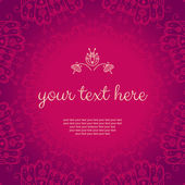 Abstract vector floral pink banner  — Vetor de Stock