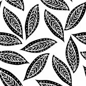 Ornamental leaves, seamless pattern — Stock vektor
