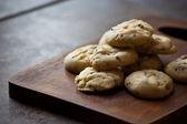 Vanilla cookie homemade on wood tablet — Stock Photo