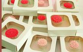Decorative boxes with stickers — ストック写真