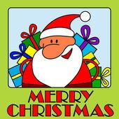 Wesołych świąt - święty mikołaj — Wektor stockowy