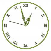 Vector old vintage clock — Stock Vector