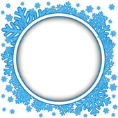 Frame with blue snowflakes — ストックベクタ