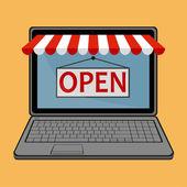 On-line mağaza — Stok Vektör