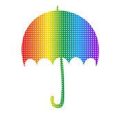 Rainbow umbrella — Stock Vector
