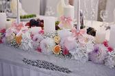 表设置为婚礼晚宴 — 图库照片