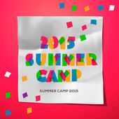Travel themed Summer Camp poster — Stock Vector
