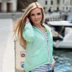Young adult lady enjoying summer travel — Stock Photo #75507061