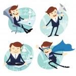Vector Illustration Office man set — Stock Vector #52126687