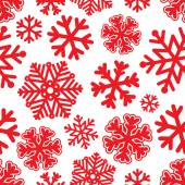 Festive Christmas and New Year seamless snoflakes pattern — Stock Vector