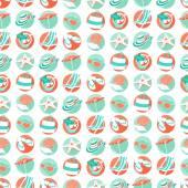 Summer beach party seamless pattern. Flat style.  — 图库矢量图片