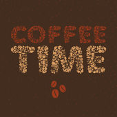 Coffee Time shape dessert pattern with cafe and food objects. — Vector de stock