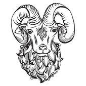 Hand drawn doodle ram — Stock vektor