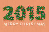 Festive christmas wreath figures 2015. Flat style. — Stock Vector