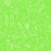 Sport and fitness seamless doodle pattern — Wektor stockowy