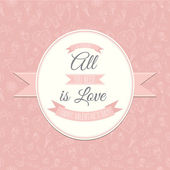 Greeting card with Festive Valentine's Day seamless pattern. All — Stock Vector