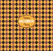 Seamless pattern Of Vintage Happy Halloween Tartan Texture. Hall — Stock Vector