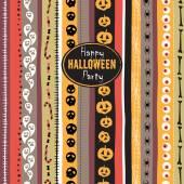 Seamless pattern Vintage Happy Halloween. Flat style. Halloween — Stok Vektör