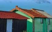 Casetas de pescadores colorido — Foto de Stock