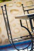 Creatively designed metallic chair  — Stock Photo