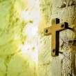 Cross with light shafts. Faith symbol. — Stock Photo #52815897