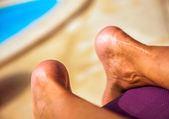 Healed scar on ankle — Stock Photo