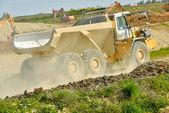 Yellow mining truck — Stock Photo