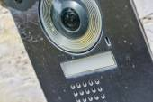 Black video intercom — Stock Photo
