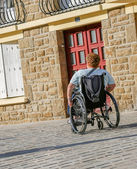 Lonely man in a wheel chair — Stock Photo