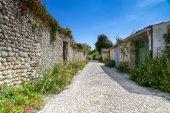 Lonely street in a French Village — Zdjęcie stockowe