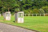 Parlak yeşil futbol Bahçesi — Stok fotoğraf