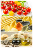 Colorful collage with cooking ingredients — Stock Photo