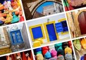 Composition of objects or typical places of Morocco — Stock Photo