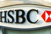 France - FEB 12: HSBC Bank on February 12 2015 in Paris, France — Stock Photo