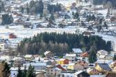 Panoramic view of one french montain village — Stock Photo