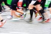 パリ国際マラソンで速度の影響 — ストック写真