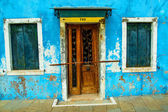 Old  house on the Venetian island of Burano — Foto Stock