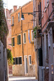 Beautiful facade and windows of typical Venetian houses, Italy — Stock Photo