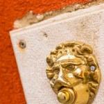 Lion shaped doorbell in Venice, Veneto,  Italy — Stock Photo #69356517