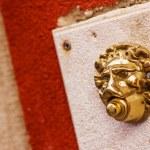Lion shaped doorbell in Venice, Veneto,  Italy — Stock Photo #69356537