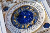 Closeup on Astronomical clock in square San Marco, Venice, Italy — Stock Photo