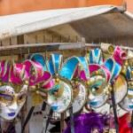 VENICE, ITALY - MAR 19 - closeup of Venetian masks in a shop on Mars 19, 2015 in Venice, Italy. — Stock Photo #69790189