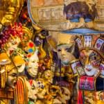 VENICE, ITALY - MAR 19 - closeup of Venetian masks in a shop on Mars 19, 2015 in Venice, Italy. — Stock Photo #69790195