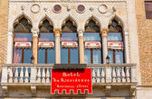 VENICE, ITALY - MAR 19 - Facade of a luxury hotel La Residenza on Mars 19, 2015 in Venice, Italy. — Stock Photo