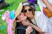 CHANTILLY - JUNE 15 : Lifestyle at Prix de Diane in racecourse, near Paris on June 15, 2014, France. — Stock Photo