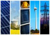 Collage of Power and energy concepts — Foto de Stock