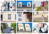 Collage illustrating the real estate market — Stock Photo