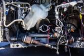Closeup araba mekanik tamir fren balataları — Stok fotoğraf