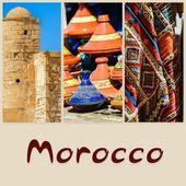 Composição de objetos ou locais típicos de Marrocos — Fotografia Stock
